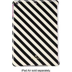 kate spade new york - Snap-On Case for Apple® iPad® Air - Black/Cream