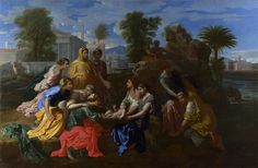 Nicholas Poussin The Finding of Moses France (1651) Oil on Canvas, 115.7 x 175.3 cm. [x] [x] [x]