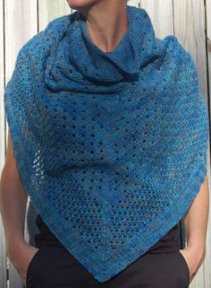 Free knitting pattern for easy Campside Shawl - Alicia Plummer and Julie Asselin Hand Dyed Yarns collaborated on this design of cascading eyelets. Most Ravelers rated it easy.