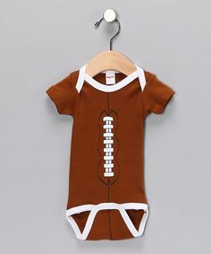 Take a look at this Brown Football Bodysuit by Babyball Clothing on #zulily today!