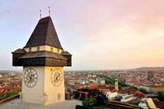 Graz, Austria is small, wonderful city that needs to be on your travel list. Austria is full of potential and adventure. Graz Austria, Travel List, Siena, Big Ben, Istanbul, Traveling By Yourself, Tower, Adventure, City