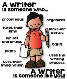 Writer Poster [someone who] Classroom Rules, Classroom Posters, Classroom Organization, Classroom Management, Writing Resources, Teaching Writing, Teaching Kids, Writing Ideas, Childhood Education