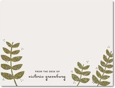 Regal and Rustic - Personal Stationery in Umber or Smoke | Stacey Day
