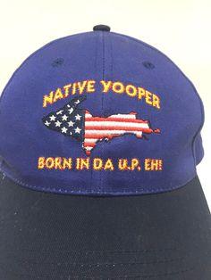 316f2cbfdbe Native Yooper Born In Da U.P. EH  Slideback Blue Dad Hat Cap Cotton   RoyalHeadwear  BaseballCap