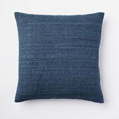 Solid Silk Hand Loomed Cushion Cover – Blue Lagoon x 2 Navy Blue Pillows, Blue Throw Pillows, Modern Throw Pillows, Decorative Throw Pillows, Blue Pillow Covers, Living Room Decor Inspiration, Merian, Blue Carpet