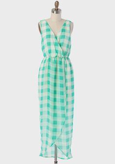 Georgia Gingham Maxi Dress at #Ruche @Ruche