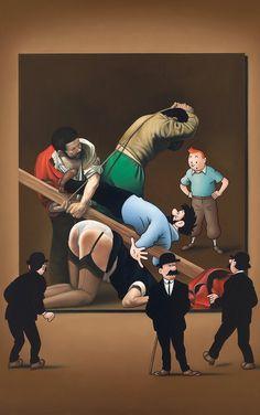 Circo di Caravaggio | ole ahlberg But Is It Art, Caravaggio, Art For Art Sake, Pin Up Art, Comic Art, Fantasy Art, Cartoons, Artists, Humor