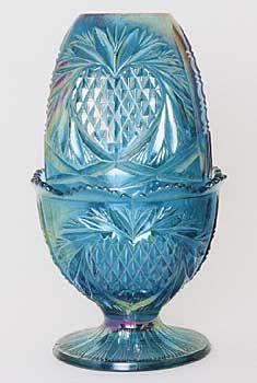 Fenton Heart design fairy lamp