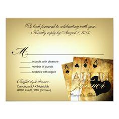 Las Vegas Wedding Reception Howard & Milita Las Vegas Deluxe RSVP response Card