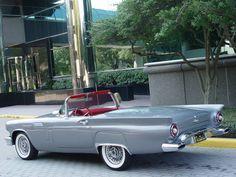 1957 Thunderbird in gunmetal gray