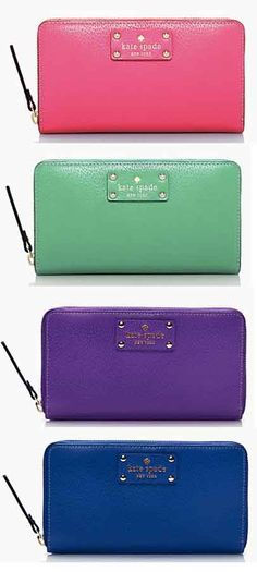 Love these colorful kate spade wallets - on sale for $79! http://rstyle.me/ad/rvmmenyg6
