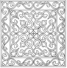 "16.5"" Provence/ could also be used as a coloring page for adults"