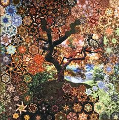 Join Me for a One Block Wonder Workshop Panel Quilts, Quilt Blocks, Forest Hill Cemetery, Charlie The Unicorn, One Block Wonder, Kaleidoscope Quilt, Textiles, The Night Before Christmas, English Paper Piecing
