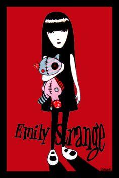 Emily Strange and Cat by kleinmeli  [i love the rag cat doll :))))) )