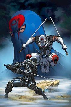 Cobra Comander, Storm Shadow, & Snake Eyes by Michael Turner