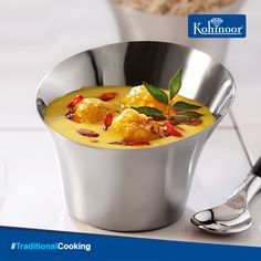 #Traditional Curd and spices come together in this delicious recipe of Punjabi Kadhi Pakora.  This traditional dish is a favourite in every household and you can find the #recipe here: http://www.kohinoorindia.co.in/recipes/kadhi-pakora.html