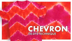 Chevron Tie-Dye Technique