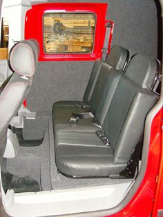 VW Caddy - Carpeting to all panels with rear seat conversion - www.vanax.co.uk