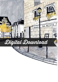 Paris Letter Stationery: Digital Download, Zelda Café by JaniceArtShip on Etsy