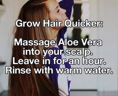 Make your hair grow faster! Good thing to know!