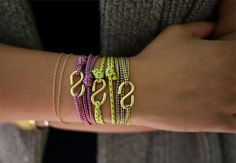 "Great idea..bracelets with lots of possibilities.. links from other necklaces could fill in for the ""S"" hooks too.."