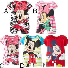 >> Click to Buy << 2016 Newborn baby rompers cute minnie cartoon 100% cotton baby romper short sleeve infant jumpsuit boy girl baby clothing #Affiliate