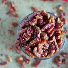 Maple Bacon Roasted Pecans by studiocuisineblog