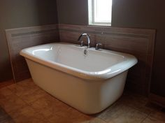freestanding tub with faucet deck. Freestanding tub with tiled walls deck mount faucet  Our Work Pinterest