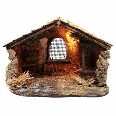 Christmas Crib Ideas, Handmade Christmas Crafts, Christmas Nativity Set, Xmas Crafts, Christmas Diy, Christmas Decorations, Easter Play, Nativity Stable, Miniature Houses