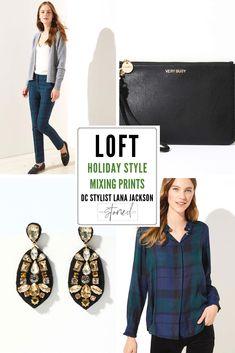 f254d9ec50 DC Stylist Lana Jackson LOFT Holiday Style The Storied Life Blog  #TheStoriedLife LOFT Plaid Ruffle
