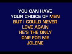 "▶ Dolly Parton - ""Jolene"" - Karaoke Version - YouTube"