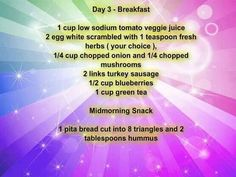 Day 3 Meal Plan 1200 Calories Breakfast