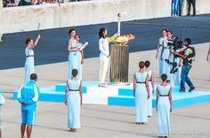 Handover Ceremony for the Olympic Flame at the Panathenaic Stadium Athens Greece. Photo by Evangelia Pasiou @evangelapasiou  #dreamingreece #travelguide #athens #ancientolympia #olympicflame #olympicgames #panathenaicstadium #rio2016 #greece