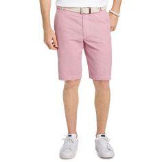 Men's IZOD Classic-Fit Seersucker Shorts, Size: 36, Brt Red