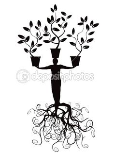 Tree man with root — Stock Vector #6420214
