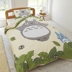 Studio Ghibli Neighbor Totoro Duvet Comforter Cover Fitted Sheets Set   eBay