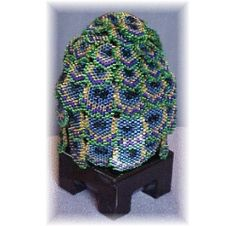 Beaded Peacock Egg Pattern at Sova-Enterprises.com