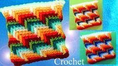 Monederos a Crochet en punto maravilloso arcoíris para cojines cobijas m...