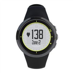 Suunto M2 Black / Lime with Heart Rate Monitor provides easy real time monitoring of heart rate and calories burned .