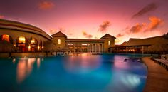 A gorgeous photo of the pool at Paradisus Palma Real Resort Golf & Spa Resort in Punta Cana, D.R.