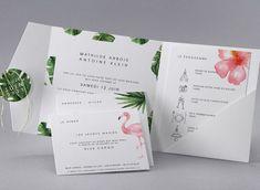 Faire-part de mariage Fleur de Tiaré M40-016 - Collection Trendy - Faire-part-creatif.com