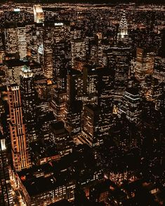 Spectacular night view of the city that never sleep, New York City New York