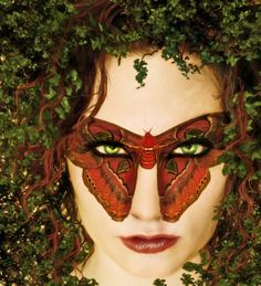 Ivy Moth body art by Maureen Older.