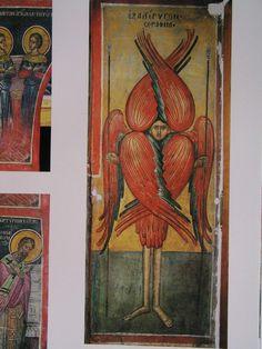 Teofan Cretanul – icoana Byzantine Icons, Orthodox Icons, Driftwood Art, Fresco, Christian, Painting, Fresh, Painting Art, Paintings