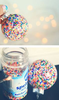Sprinkle Ornaments  - Click HERE for the steps -