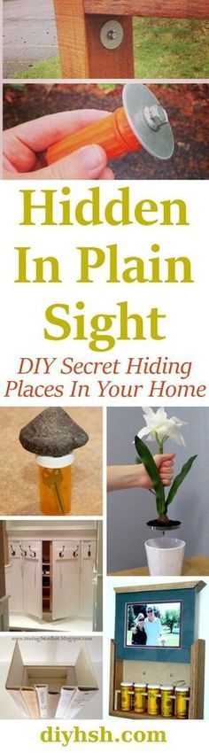 Hiding In Plain Sight - DIY Secret Hiding Places In Your Home #Storage #DIY DIYHSH #HiddenStorage #SecretHiding