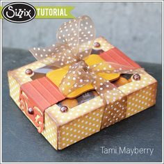 Sizzix Die Cutting Tutorial | Easy Gift Box by Tami Mayberry  Uses the Brenda Walton shadowbox die!
