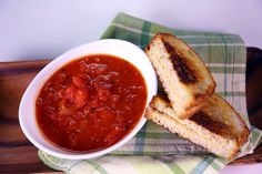 Tomato Soup & Grilled Hummus Sandwich by Mario Batali
