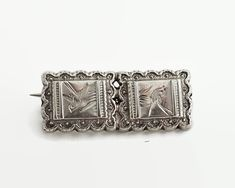 Small sterling silver antique bar brooch with engraved pattern of birds, 1800s by CardCurios on Etsy Birthstone Stacking Rings, Antique Bar, Small Bars, Bird Patterns, Silver Bars, Vintage Brooches, Victorian, Birds, Sterling Silver