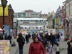 Irkutsk Shopping near Central Market- did some souvenier shopping here...